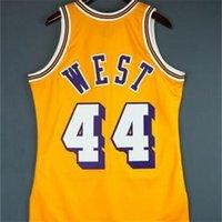Özel 121 Gençlik Kadın Vintage Jerry Batı Mitchell Ness 71 72 Koleji Basketbol Jersey Boyutu S-4XL veya Özel Herhangi Bir Adı veya Number Jersey