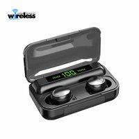 F9-5C TWS Wireless Bluetooth-Kopfhörer 5.0 Touch Kopfhörer Ohrhörer 9D Stereo-Sportmusik wasserdichte LED-Anzeige Headset mit MIC