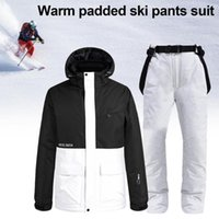 Waterproof Skiing Jackets And Pants Winter Breathable Hooded...