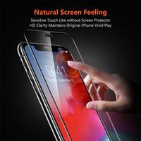 Новейшее закаленное стекло 9H жесткость экрана защитник для мобильного телефона Анти-царапин Усиленная стеклянная пленка для iPhone 12 Series Mini Pro Max