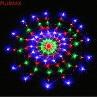 Spider RGB à prova d 'água LED rede rede 1.2m 120 LED luz colorida festa de Natal casamento levou cortina cadeia luzes gadern gramado lâmpada