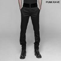 Gótico Vintage Partido Casual Partido Formal Mesa de Boda Pantalones Pantalones Steampunk Stripes Slim Fit Men Pantalones Punk Rave WK-333XCM1