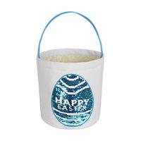 Paskalya Sepeti Çevirme Pullu Yumurta Sepeti Paskalya Bunny Çanta Mutlu Paskalya Şeker Çanta Tedavi Sepet Tote Çocuklar Çanta Çantalar Mektuplar Satış F123002