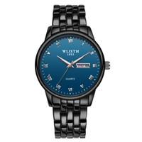 Wlisth Fashion Hombres Reloj Top Marca de lujo Reloj de cuarzo Reloj de cuarzo Reloj casual Hombre A prueba de agua Cronógrafo Relogio