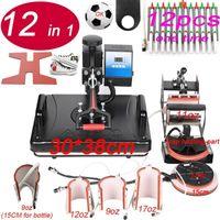 جديد 12 في 1 كومبو الحرارة الصحافة آلة التسامي طابعة 2d آلة نقل الحرارة ل بلايز القدح حذاء القلم لوحة غطاء الهاتف case1