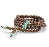 Pulseras de encanto Drop Entrega 2021 Venta al por mayor1086mm Sandalia de sándalo Meditación Budista Rezo Bead Mala Collar Pulseras Pulsera para Mujeres Hombres J