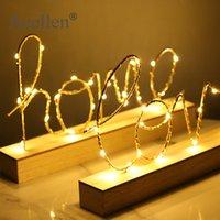 Wohnkultur Figuren Ornamente LED Lampe Licht Liebe Buchstaben Wohnzimmer Schlafzimmer Layout Dekoration Valentinstag Geburtstagsgeschenk T200703