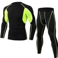 الملابس الداخلية للرجال للرجال ضغط الشتاء طبقة قاعدة دافئة أعلى أسفل مجموعات الترا لينة والعتاد الرياضة طويلة جونز مجموعة 201030