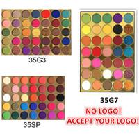 Nenhum logotipo! 35 cores paleta de sombra fosco e brilho glitter Eyeshadow pallete olho ferramenta de maquiagem de cosméticos aceitar o seu logotipo