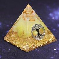 Orgonita Pyramid Tree of Life Energy El convertidor de energía de la Pirámide de la Lucky Ceregat para reunir la riqueza y la prosperidad de resina Decoración del hogar Ornamento
