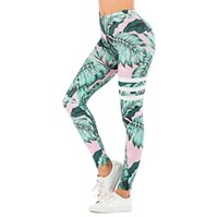 Brand Sexy Donne Legging Leaf Stampa Leggins Fitness Leggins Fashion Slim Legins Leggings High Weist Pantaloni donna 201203