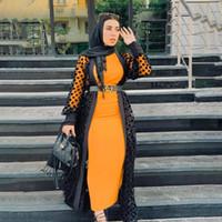 Abaya Dubai Kaftan Hicap İslam Giyim Müslüman Kimono Hırka Kaftan Abayas Kadınlar için Türk Şifon Ramazan Eid
