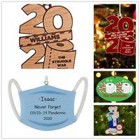 2020 Рождественские украшения Персонализированные туалетной бумаги с талреп дерева украшения Деревянные Подвесной Новый год Home Decor Игрушки сувениры партии E92402