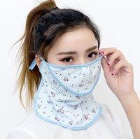 Fashion Designer Face Mask Ice Silk Multi Colors Flower Respiratore Respiratore Sole Traspirante Sport Outdoor Sport Guida Maschere Bocca Maschere Vendita calda 3ZG L2
