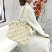Elegant Female Large Tote 2020 Fashion New High- quality Wool...