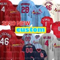 28 Nolan Arenado 2020 Custom Cardinal Baseball Jersey St. Louis 4 Yadier Molina 46 Paul Goldschmidt 1 Ozzie Smith 13 Matt Carpenter 01