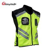 Equitação Tribo Moto Reflexivo Jacket Motorcycle Safty Colete Aviso Roupa de Alta Visibilidade Vest Equipe Uniforme JK-22