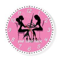 Manicure salão relógio de parede prego salon spa personalizado relógio de parede personalizado artwork pedicure pedicure estúdio estúdio de visita de parede de negócios decoração y200110