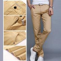 Swokii homens calças moda business casual slim retas pleno comprimento calças primavera verão macho macho calças longas 7 cores calças homens y200114