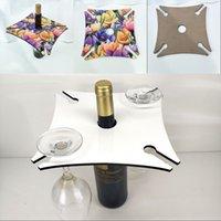 Quadratische vier Ecken Weinregal Woodiness Becher Halter Sublimationsrohling Champagner Stemware-Racks Lagerung Küche 10 5BD G2