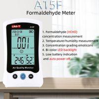 UNI-T A15F HCHO 포름 알데히드 측정기 온도 습도 측정 시각 백라이트 알람 이모티콘 백라이트 농도를 LED