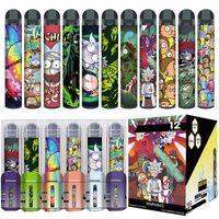 최신 2000Puffs Poco XXL 일회용 vape 펜 전자 담배 800mAh 배터리 장치 6ml 포드 카트리지 11 색 기화기 스타터 키트