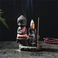 Kreative umgekehrte Zenser lila sand buddhistische Mönchsberge und Wasserkeramik Weihrauchbrenner Kunst und Handwerk Home Ornament 10hs H1