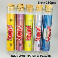 Dankwoods Tubos de vidrio Embalaje Pre-Roll Juntas Paquete Botellas vacías Envase de vidrio Vape Vape Cartuchos Tubo de embalaje con pegatinas