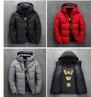 New North Les vêtements d'hiver des hommes Doudounes Parka Baissez chaud manteau Softshell Chapeaux Veste homme visage vêtements d'extérieur épais