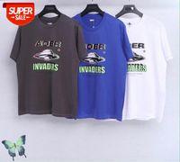 Yeni Yaz Aderror UFO Uzay Invaders T-Shirt Erkekler Kadınlar Trendy Yüksek Kalite Casual Aer Hata Üst Tees T-Shirt Hızlı Kargo # MN7M