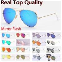 mulheres óculos de sol piloto óculos homens mulheres shades lentes de vidro UV top qualidade da aviação com capa de couro, pano e acessórios de varejo!
