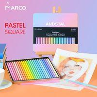 Marco 12/24/48 Cores quadrados na moda cor pastel lápis andstal óleo aqua color cor profissional lápis para a escola y200709
