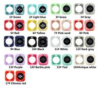 애플 시계 iWatch 시리즈 1 개 2 3 4 5 6 커버 전체 보호 케이스 42mm의 38mm에서 40mm의 44mm 다채로운 부드러운 실리콘 케이스