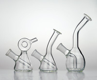 Piccole bong acqua tubi di vetro mini discesa piattaforme riciclatore tamponare l'olio coppa ciotola downstem gorgogliatore a nido d'ape perc 14 millimetri