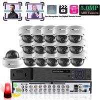 أنظمة الوجه سجل 5MP CCTV مراقبة كيت نظام كاميرا الأمن 16ch DVR 2592 * 1944P فيديو في / إخراج عن بعد العرض على الهاتف 1