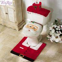 Joyeux Noël Toilette Toilette Decor Tapis Tapis Salle de bain Ensemble 2019 Décoration de Noël Navidad Crismas Decor Noel Nouvel An 20201