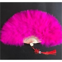 Festa Decoração Cor Espessura Fluffy Dobrável Marabu Pena Mão Fã Mulher Meninas Dança Performan Jllfbx Yummy_Shop