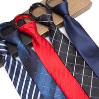 Мужские галстуки на молнии ленивые галстуки мода 8 см деловой галстук для человека ленивый галстук легко вытянуть веревочку шеи кувыруют свадьба 1200 вязание плотности1