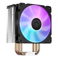 Jonsbo CR1000 CPU 쿨러 팬 4 열 파이프 Argb Tower 4Pin CPU 냉각 방열판 Intel LGA 1150/1151/1155/1156 AMD AM2 AMS AM41