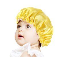 Hübsche Reversible Adjustable Schlaf natürliche lockiges Haar Silk Kinder Mädchen Jungen Satin Bonnet Große Echt Rosa Männlicher Kopf-Schal-Verpackungs-Kappe