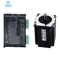 JMC 24V DC 스테퍼 모터 드라이버 NEMA 23 4.0A 2.0NM 8 리드 디지털 스테퍼 모터 2DM542 + 57J1880-830 CNC 조각 기계 용