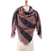 봄 겨울 삼각형 스카프의 경우 여성 격자 무늬의 따뜻한 캐시미어 스카프 여성 스카프 파시미나 레이디 두건 랩은 201,018을 담요