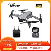 Topacc T58 WiFi FPV 106.7g Brazo plegable Drone RC Quadcopter Mini gran angular Profesional HD 1080p cámara Hight Hold Mode RTF DRON 201105