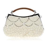 Горячая продажа-имитация жемчуга ручной бисером рука сумка сумки ретро Cheongsam платье невесты свадебный мешок мешок вечера плеча женщины сумочку