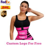 Logo personalizzato GRATUITO UOMINI DONNA SHAPERS Vita Trainer Cintura Corsetto Belly Snowming Shapewear regolabile Vita di supporto per il corpo Shapers FY8084