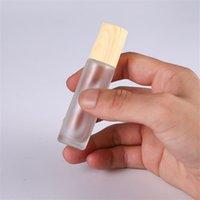 زجاج واضح متجمد زجاجات فارغة 5 ملليلتر 10 ملليلتر المعادن الأسطوانة الكرة الخشب الحبوب البلاستيك زجاجة العطور المحمولة قوارير السفر الساخن بيع 2JS G2