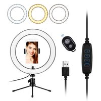 10inch LED Ring selfie Licht Foto Fotografie Fill-in-Lampe USB Powered mit Telefon-Halter Mini-Desktop-Stativ Fernauslöser