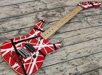 Yüksek Kalite Elektro Gitar Eddie Van Halen 5150 En iyi kalite Gitarlar, Gitar 5150 çizgili kırmızı