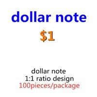 Paper Prop Faux Guaret Копировать деньги бумаги Лучшие 1 доллар деньги нами 07 100 шт. / Упаковка игрушки Поддельные ребенка Bange Copy Banknotes MQGJU