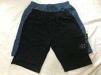 American Top Material Beach Shorts Mens Retro Sports Calças Algodão Azul Logotipo Curto Laço Bordado Bordado Verão Rua Explosões Cinco Calças 2020